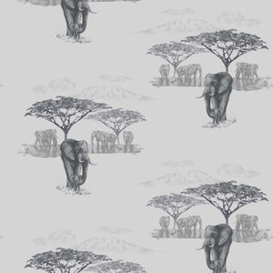 The Waterhole Grey Wallcovering