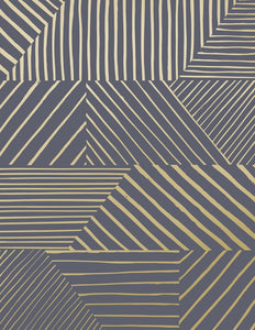Parquet- Gold on Charcoal Wallcovering