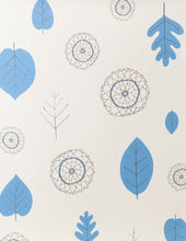 Load image into Gallery viewer, A View of The Woods Delft Blue and Mink on Cream Wallcovering