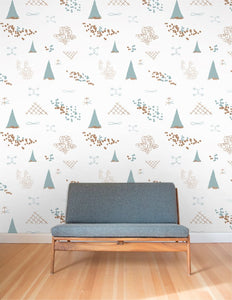 Family Reunion Copper and Patina  Wallcovering