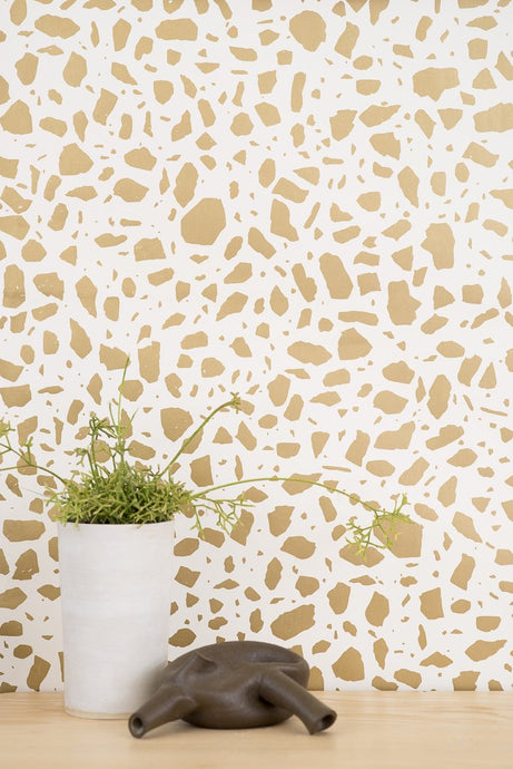 Ibo Gold on Cream Wallcovering