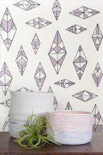 Load image into Gallery viewer, Indian Summer Charcoal and Lilac on Cream Wallcoverning