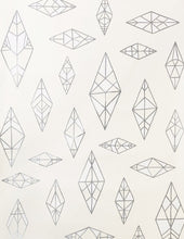 Load image into Gallery viewer, Indian Summer Silver and White on Cream Wallcoverning