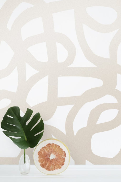 Le Freak- Champagne on Cream Wallcovering