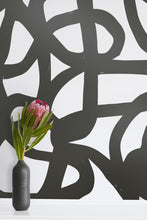 Load image into Gallery viewer, Le Freak- Gunmetal on Cream Wallcovering