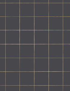 Pascal Gold on Charcoal Wallcovering