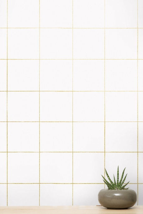 Pascal Gold on Cream Wallcovering