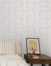Load image into Gallery viewer, Salad Days Navy and Red on Cream Wallcovering