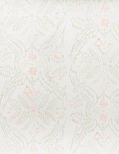 Load image into Gallery viewer, Salad Days Straw and Gloaming Neon Orange on Cream Wallcovering