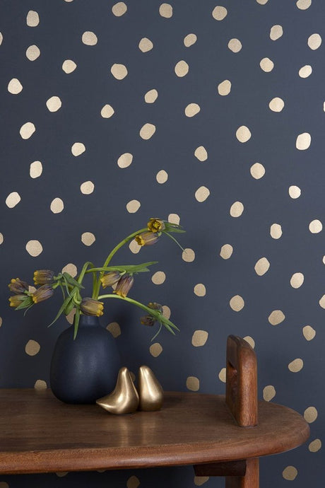 Sisters of The Sun Gold on Charcoal Wallcovering
