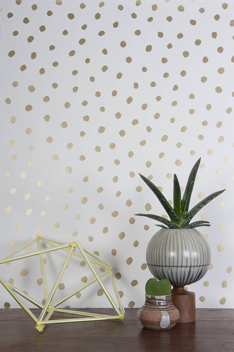 Sisters of The Sun Gold on Cream Wallcovering