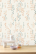 Load image into Gallery viewer, The Sou'Wester Aquatic and Gloaming Neon Orange Wallcovering