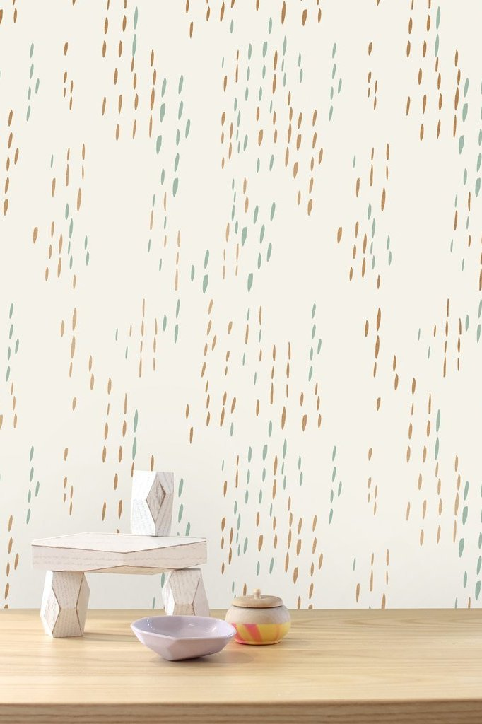 The Sou'Wester Copper and Patina  Wallcovering