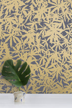 Load image into Gallery viewer, Wild Thing- Gold on Charcoal Wallcovering