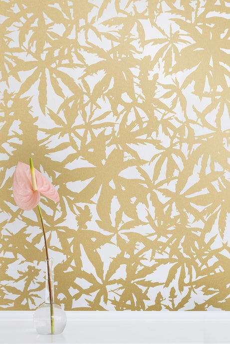 Wild Thing- Gold on Cream Wallcovering