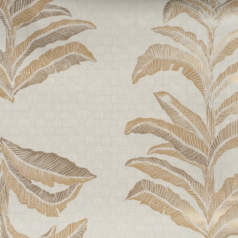 Banana Leaf Gold Wallcovering