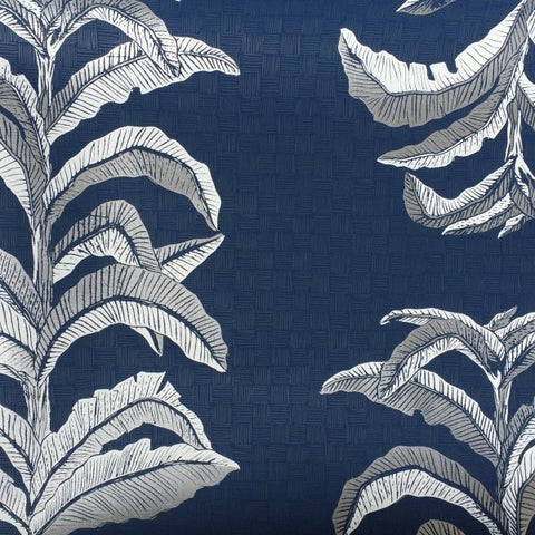 Banana Leaf Navy Wallcovering