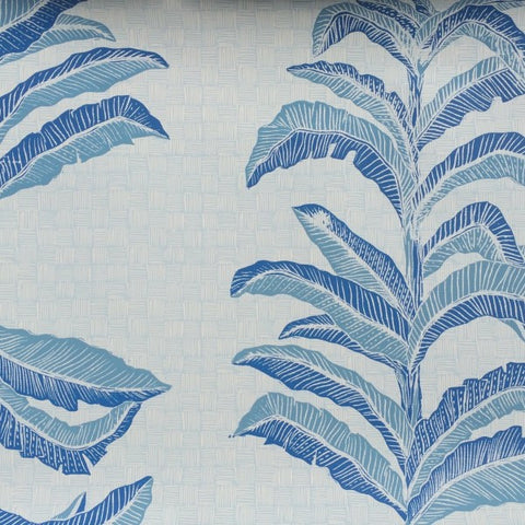 Banana Leaf Sapphire Wallcovering