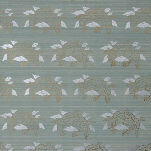 Chrysanthemum Celadon Wallcovering