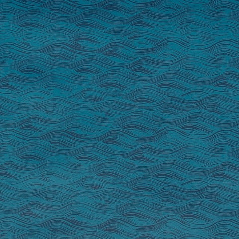 Painted Wave Azure Wallcovering