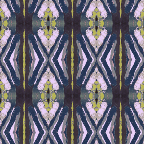 125-5 Chartreuse Navy Fabric