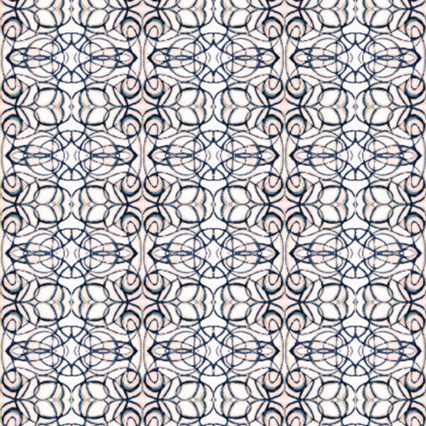 1515--3 Peach Teal Fabric