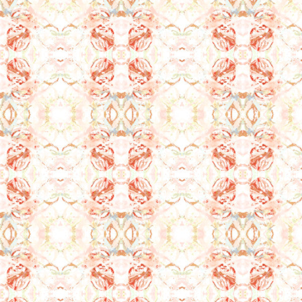 411--3 Red Peach Mint Fabric