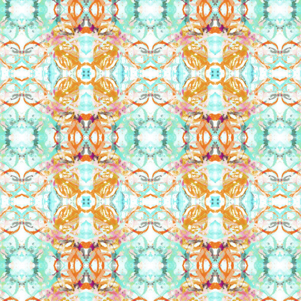 411 Blush Turquoise Wallcovering