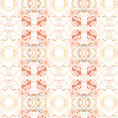 411 Red Peach Mint Wallcovering