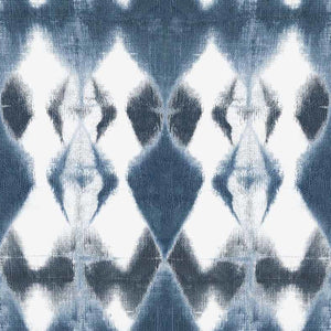 Lucy Diamonds Indigo Fabric