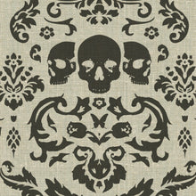 Load image into Gallery viewer, Phillip Barlow: Macabre Charcoal Fabric
