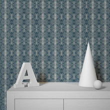 Load image into Gallery viewer, Argyle Navy Grasscloth