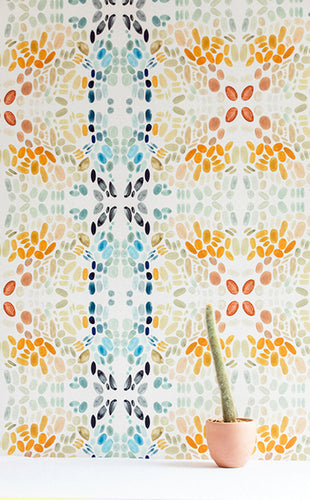 Painted Lady Sea Sage Wallcovering