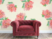 Load image into Gallery viewer, Peony Cascade Grasscloth