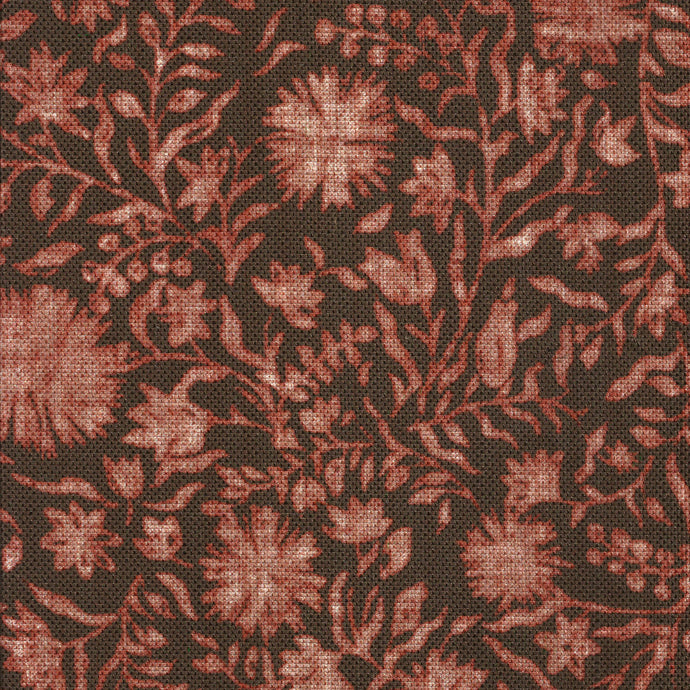Madras Floral Russet Fabric
