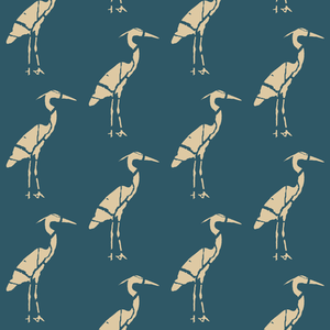 Heron Crackle Prussian Wheat Wallcovering
