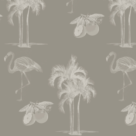 Palm Beach Chic Sepia Wallcovering