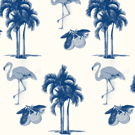 Palm Beach Chic Sapphire Milk Wallcovering