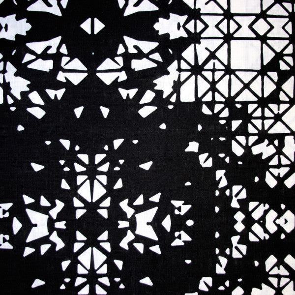 Bodrum Black and White Fabric