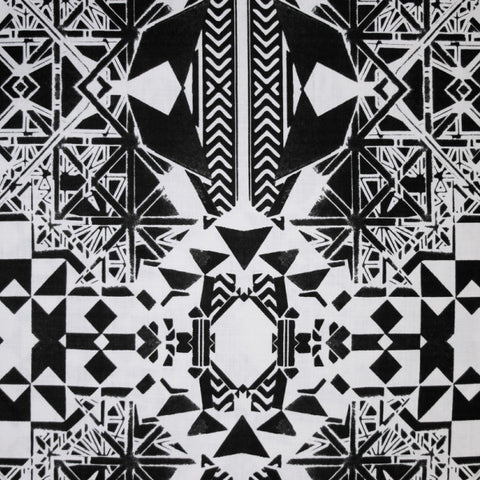 Dubrovnik Black and White Fabric