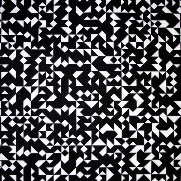 Izmir  Black and White Fabric