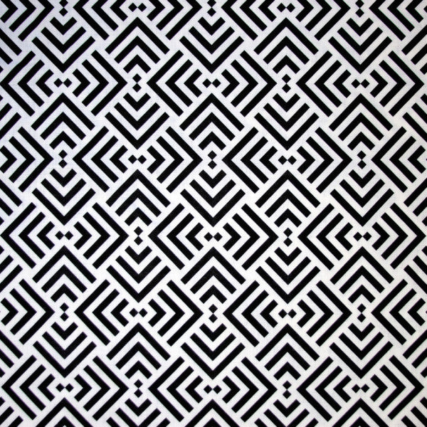 Zadar Black and White Fabric