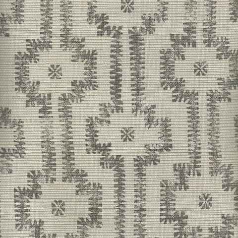 Shipibo Charcoal Metallic Grasscloth Wallcovering