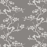 Geisha Platinum & Silver Commercial Grade Wallpaper