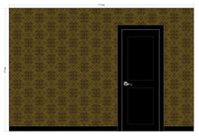 Load image into Gallery viewer, TORI White, Dark Chocolate, & Frost Wallcovering