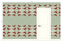 Load image into Gallery viewer, CHARLOTTE Tomato Wallcovering
