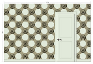 AUGUSTUS Truffle Wallcovering