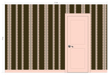 Load image into Gallery viewer, FELIX Dark Chocolate, Light Cocoa & Blush Wallcovering
