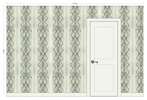 LITTLE CECE Bone & Charcoal Wallcovering