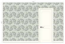 Load image into Gallery viewer, ATHENA White & Charcoal Wallcovering